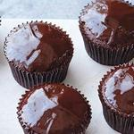 Капкейк с шоколадной глазурью