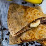 Кесадилья с бананом и шоколадом