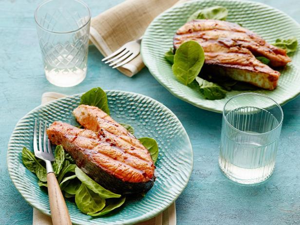 Фото Стейк из лосося с соусом хойсин