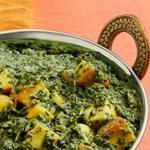 Сааг панир – индийский сыр со шпинатом