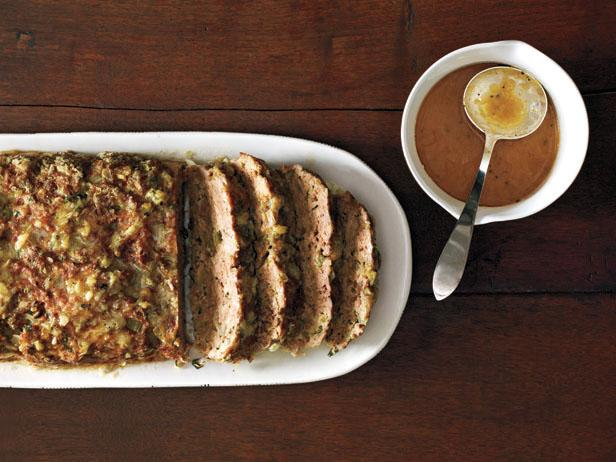 Фото Мясной хлеб с чесноком