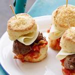 Английский сэндвич с мясными маффинами
