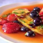 Салат из фруктов-гриль