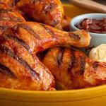 Куриные окорочка на гриле с соусом барбекю