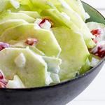 Салат из огурцов с маринованными перцами