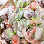 Картофельный салат с огурцом и сельдереем