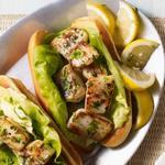 Сэндвичи с жареным в сливочном масле морским гребешком