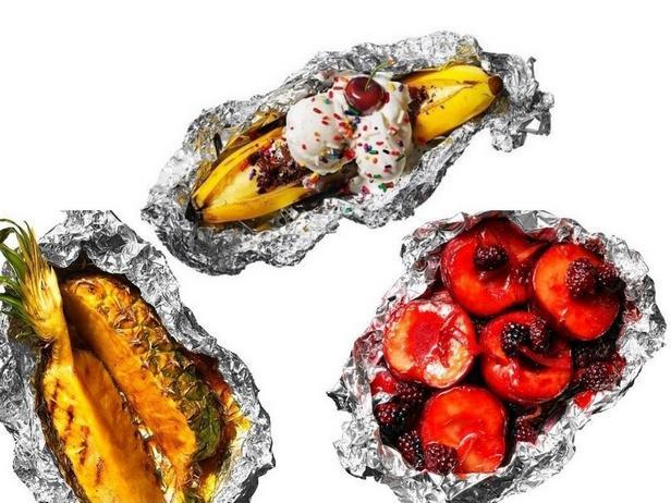 Фото Летние фрукты на гриле