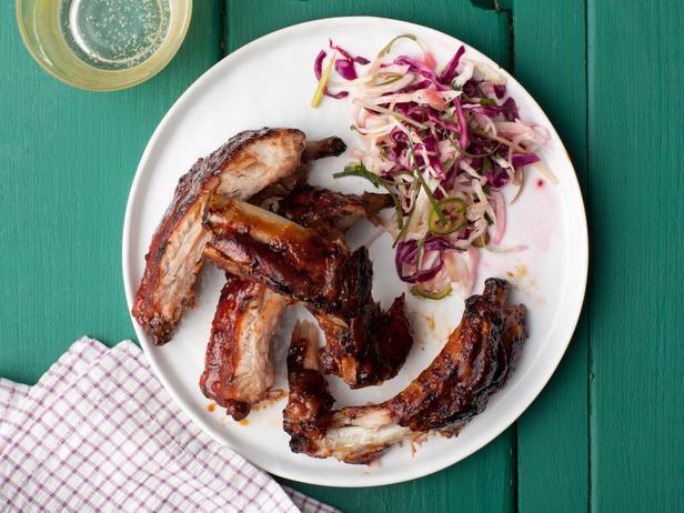 Свиные ребрышки в духовке с кофейным соусом барбекю