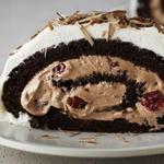 Шоколадный рулет без муки «Черный лес»