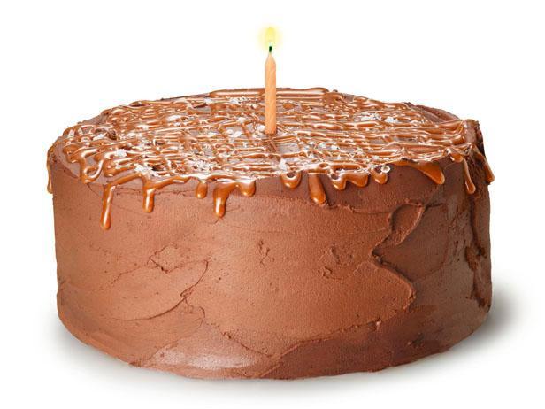 Фото Шоколадно-апельсиновый торт с соленой карамелью