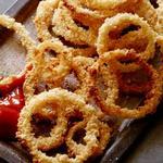 Луковые кольца, запеченные в духовке