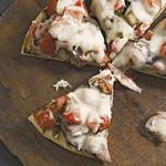 Пицца с баклажанами на гриле