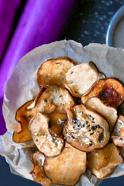 Фото Чипсы из баклажанов в духовке