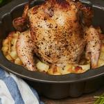 Курица с картофелем по-провански на гриле в форме для кекса