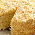 Торт с кокосовой начинкой и сливочным кремом