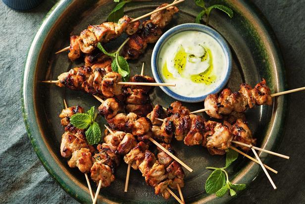 Шашлык из курицы в духовке в остром маринаде из мелассы