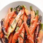 Отварная морковь в имбирно-соевой глазури