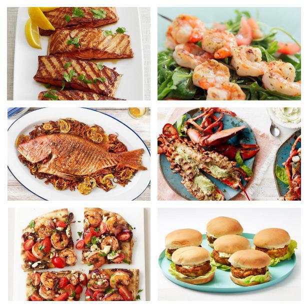 Фото Рецепты для гриля: лосось, креветки и другие морепродукты