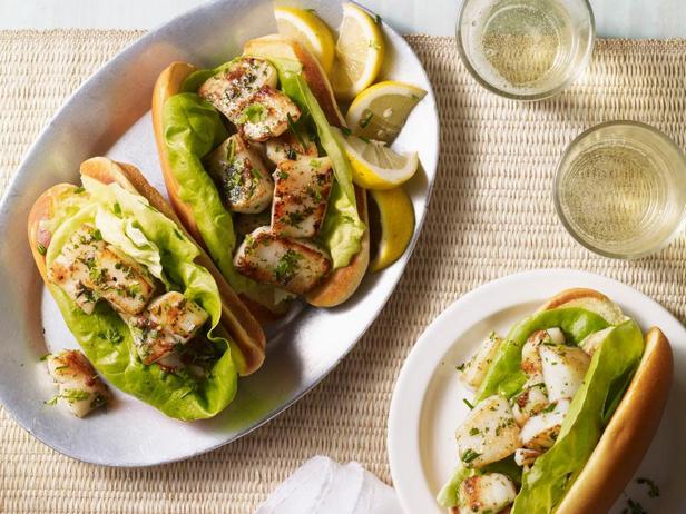 Фото - Сэндвичи с жареным в сливочном масле морским гребешком