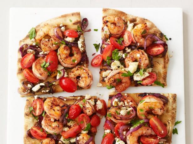 Фото - Пицца-гриль с креветками