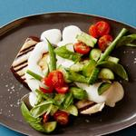 Баклажаны на гриле и салат из стручковой фасоли