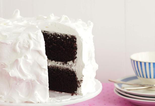 Фото Шоколадный торт с маршмэллоу