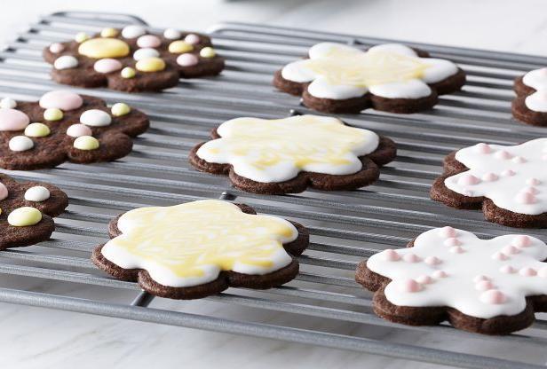 Фото Шоколадное печенье «Шортбред» с глазурью