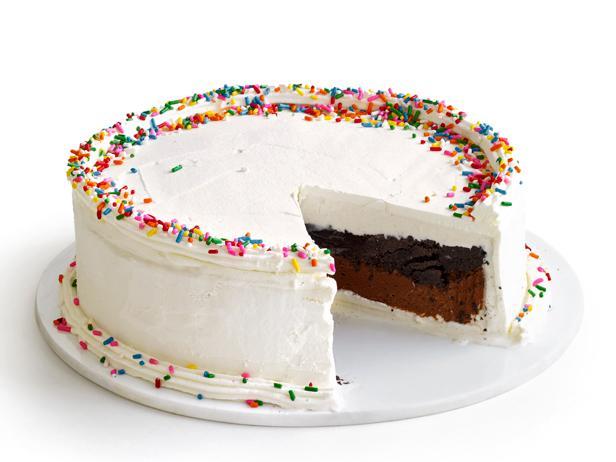 Фото Торт-мороженое с хрустящей начинкой