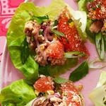 Врапы со свининой и грейпфрутовой сальсой