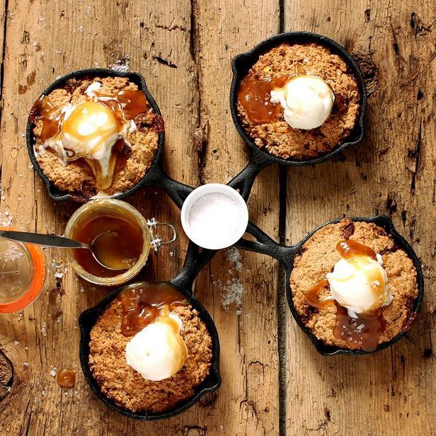 Фото Овсяное печенье на сковороде