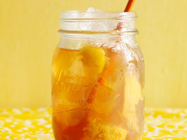 Холодный имбирный чай с персиком №5
