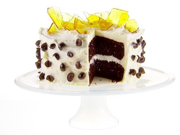 Фото Кофейный торт с итальянским сливочным кремом и карамельным стеклом