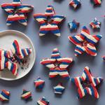 Печенье-пиньята «Звёзды и полосы»