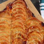Пирог с карамельными яблоками