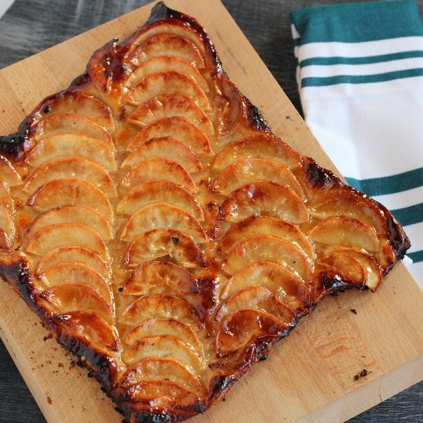 Фото Пирог с карамельными яблоками