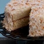 Торт с кокосовыми сливками и творожным сыром