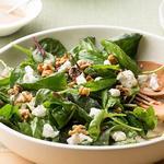 Салат из шпината с маслом грецкого ореха