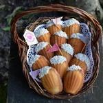 Миндальное печенье Мадлен с кокосом