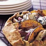 Пирог-галета с тыквой, голубым сыром и тимьяном