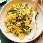 Салат из свежей вареной кукурузы