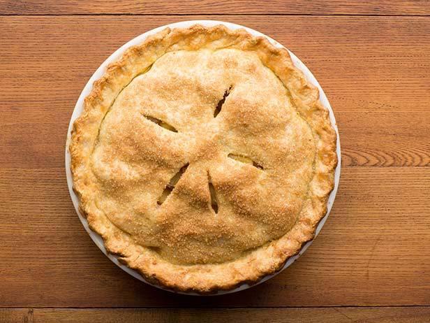Фото Закрытый пирог с яблоками