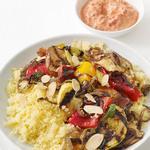 Овощи-гриль с кускусом и йогуртовым соусом