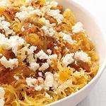 Овощные спагетти с сыром фета