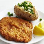 Свиной шницель с печёным картофелем