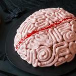 Мозги из воздушного риса с шоколадным муссом
