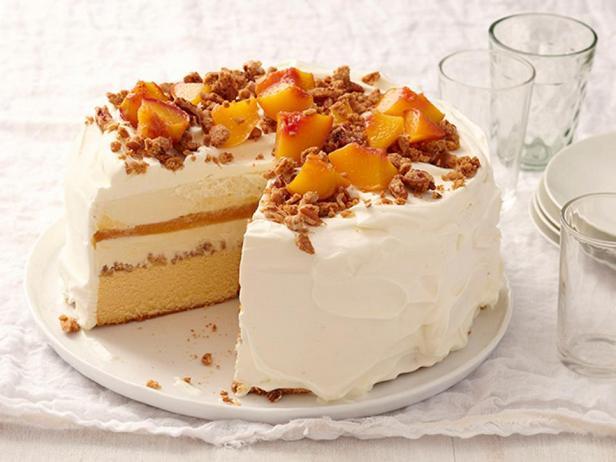 Торт-мороженое «Персиковый коблер»