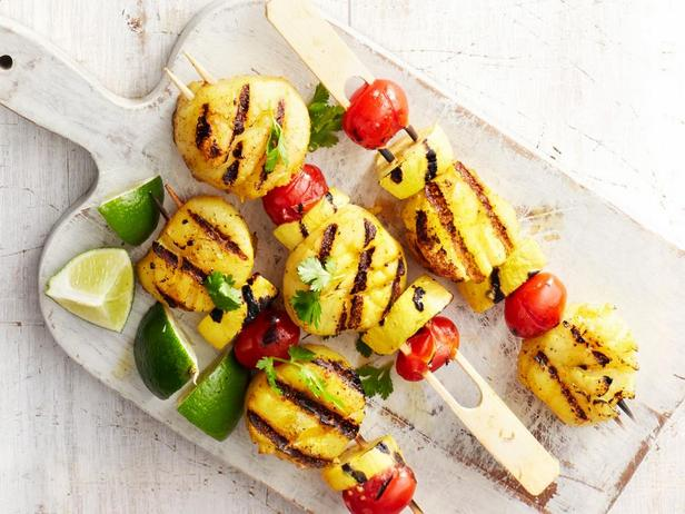 Фотография блюда - Морские гребешки и желтые кабачки на гриле с приправой карри