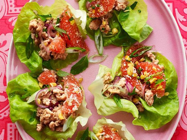 Фотография блюда - Врапы со свининой и грейпфрутовой сальсой
