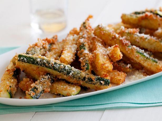Фотография блюда - Цуккини в сырной панировке, жареные во фритюре